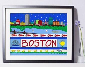 Boston Harbor Art Painting PSNY - Home Decor