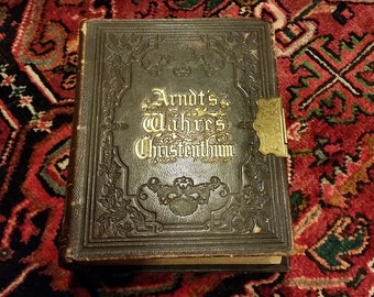 Wahren Christenthum Antique Leather bound book