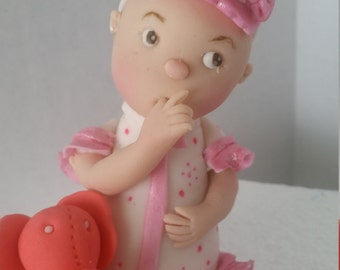 Edible baby cake topper