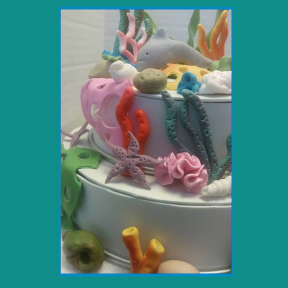 Under the sea edible complete cake decoration from for 3d printer cake decoration