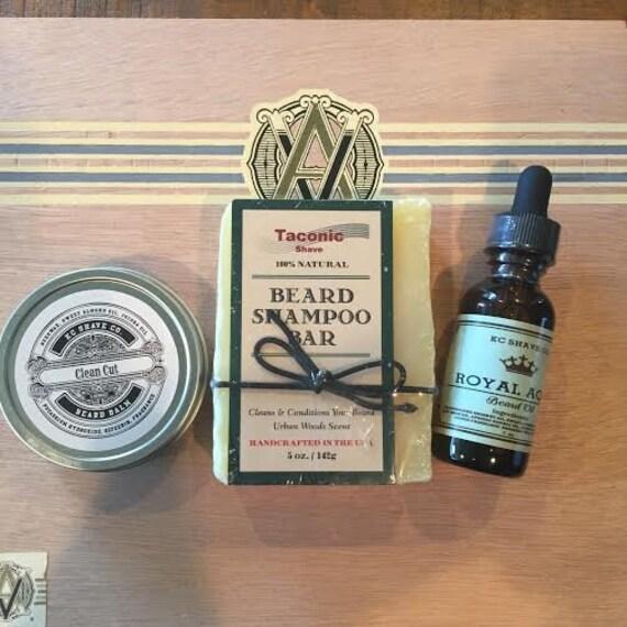 kc shave co beard grooming gift box beard kit birthday gift. Black Bedroom Furniture Sets. Home Design Ideas