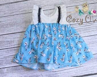 Olaf Frozen Snowman Clara Ruffle Girls Toddler Top