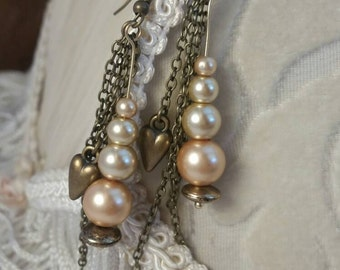 Pearls dropped - First Collection by SilverJaneSundries pearl bead earrings
