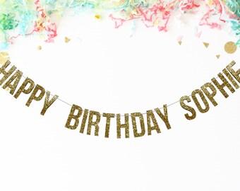 Custom Happy Birthday Banner | birthday party | birthday decor | custom banner |