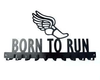 Free USA Shipping Born To Run Medals Display Rack 10 Hook