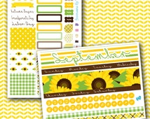 September SUNFLOWER Monthly Planner Sticker Kit