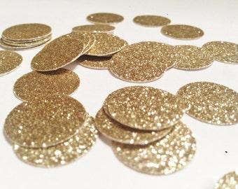 Gold Glitter Confetti, Round dot Confetti, Silver Glitter, 1 inch, Wedding confetti, Large confetti