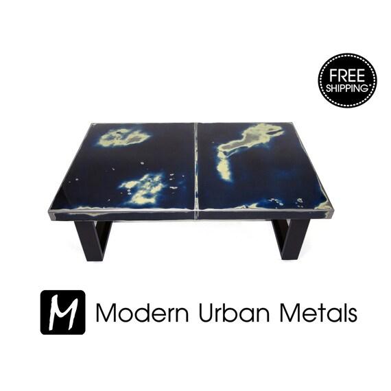 Modern Coffee Table Mid Century Modern Urban Steel And Wood