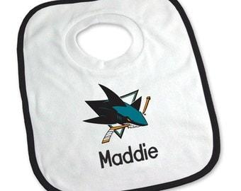 Personalized San Jose Sharks Baby Bib