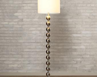 "59"" Floor Lamp in Brushed Steel"