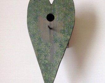 Hand made birdhouse, wooden birdhouse, hand painted bird house, canadian bird house