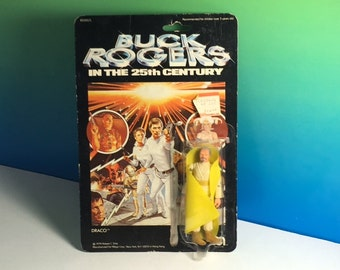 BUCK ROGERS DRACO Vintage 1979 Mego Corporation action figure moc sealed unopened rare toy 25th century yellow cape space