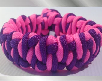 Blueberry and Raspberry Paracord Bracelet