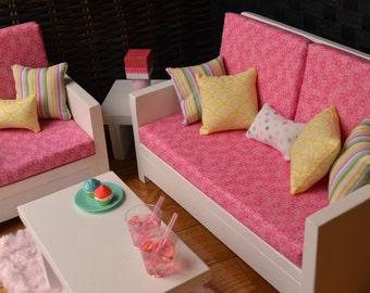"American Girl & Other 18""Doll Furniture.Living Rm. - Julia Set"