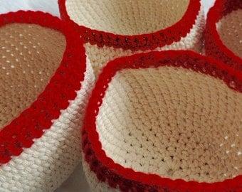 Beautifully simplistic, crochet bowls.