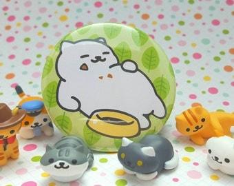 "Neko Atsume Tubbs the Cat | 2.25"" Pinback Button or Magnet | Neko Atsume Cat Collector"