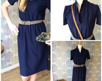 Beautiful navy blue shirt dress