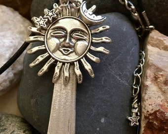 Sun Moon & Stars Necklace