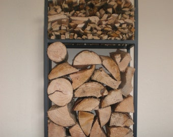 Log Holder 1mtr Tall with Ball Top and Kindling Shelf