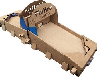 PinBox 3000 Battlemode cardboard tabletop pinball construction kit