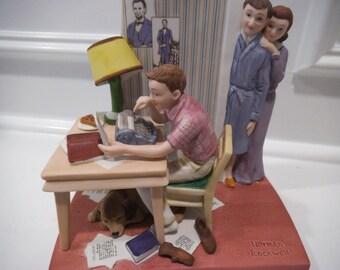 "Norman Rockwell Original Porcelain Figurine Titled ""The Student"""