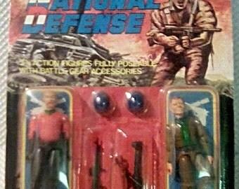 1980s National Defense 2 pack GI Joe KO figures