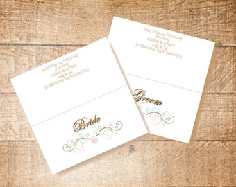 Wedding Place Cards | Summer Vintage Pastels | Personalised | Made to Order