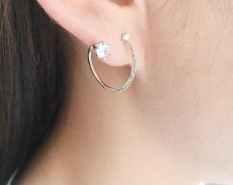 Unique spiral earrings | ear jacket earrings | swirl earrings ear jackets