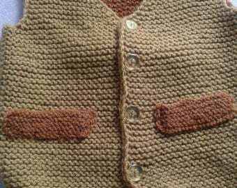 Hand Made Little Boy Vest New