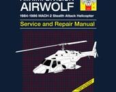 Airwolf Service and Repair Manual - Men's Unisex T-shirt - 80's TV Parody Clothing