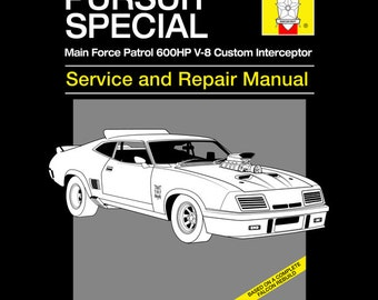 Pursuit Special Service and Repair - LADIES FIT Mad Max T-Shirt -  1980's Movie Parody Clothing