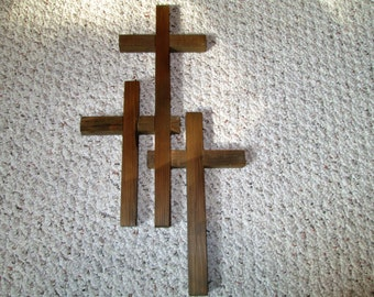 Cross, triple cross- Hand made.