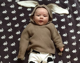 Brown Bunny Ears Jumper