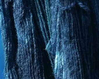 100 g Wick yarn dyed with Indigo