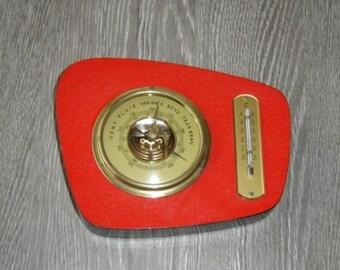 Joli baromètre thermometre Lufft. Vintage . Station météo