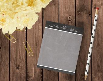 Chalkboard Flourish Notepad