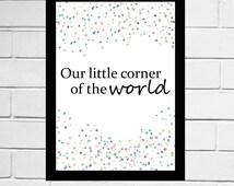 Our Little Corner Of The World - home decor, giclee print, gilmore girls, art print