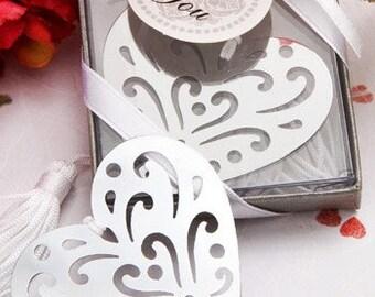 Heart Bookmark Wedding Favour