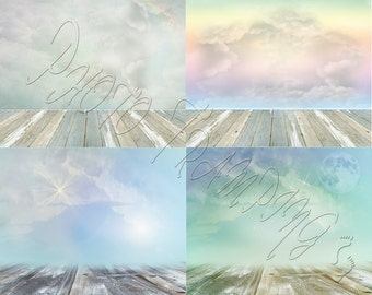 Pastel Baby Sky Backdrop