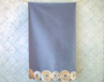 decorative tea towel - gray