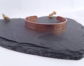 Copper bracelet/ adjustable  cuff/ copper cuff/ personalised bracelet/ copper adjustable bracelet/Customise yourself/ choose your own quote