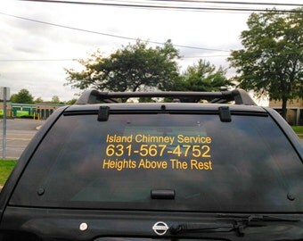 Car window Lettering Decal