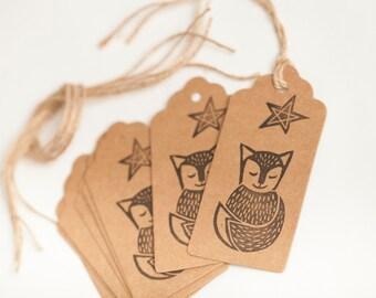 Fox Gift Tags White Fox Gift Tag Blue Fox Gift Tag Small Gift Tag  Woodland Gift Tag  Brown Gift Tag Woodland Christmas Tag White Christmas