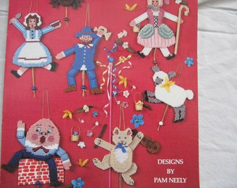 Nursery Rhyme Jumping Jacks Plastic Canvas Pattern booklet / Back Street Designs by Pam Neely