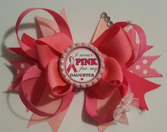 Wear Pink for my Daughter  Girls Hair Bows