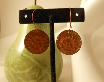 Round Copper Steampunk Earrings - Uniquely Beautful