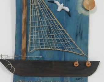 3D Painting Art Hand Made MEDITERRANEAN Style With Subject The Sea - Second Painting