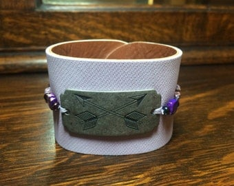 Purple Arrows Bracelet