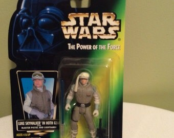 Vintage Star Wars Luke Skywalker in Hoth Gear The power Of the Force Kenner Action figure