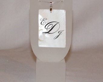 Monogram - Personalized Shell Pendant
